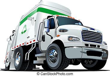 トラック, 漫画, ごみ