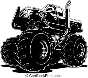 トラック, 漫画, モンスター