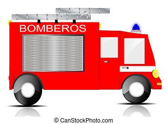 トラック, 火