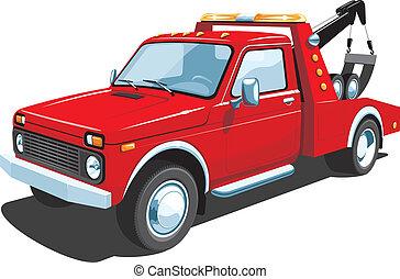 トラック, 牽引, 赤