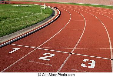 トラック, 車線, 数, athlectics