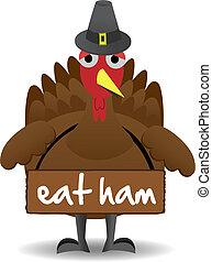 トルコ, 立つ, 感謝祭, 不幸, 単独で, 鳥