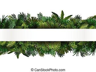 トロピカル, デザイン, 花, foliage.