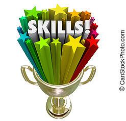 トロフィー, 金, 技能, 経験, skillset, 要求, 最も良く