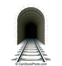 トンネル, 入口, 鉄道