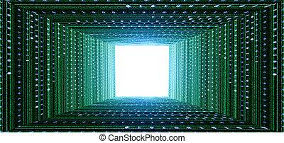 トンネル, 緑, マトリックス