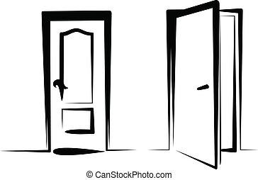 ドア, アイコン