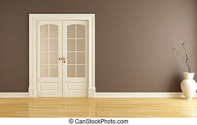 ドア, 滑っている, 空, 内部