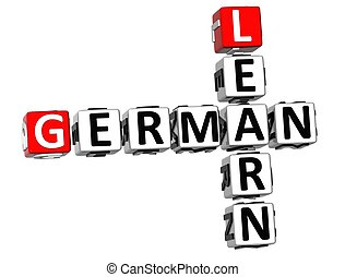 ドイツ語, クロスワードパズル, 3d, 学びなさい