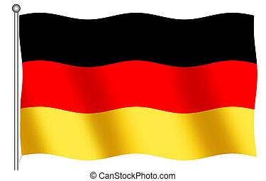 ドイツ語, 揺れている旗