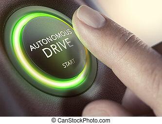 ドライブしなさい, 自治, 車, self-driving