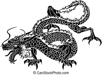 ドラゴン, 日本語, イラスト