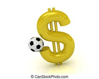 ドル, ボール, サッカー