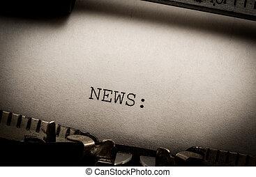 ニュース, タイプライター