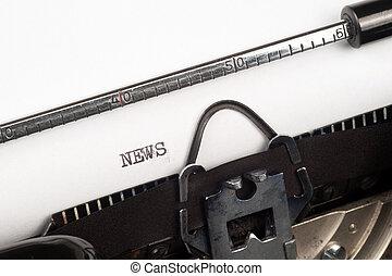 ニュース, テキスト, タイプライター