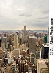 ニューヨークシティ, マンハッタン, スカイライン, 縦