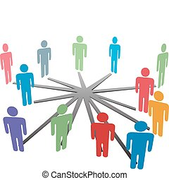 ネットワーク, ビジネス 人々, 媒体, 連結しなさい, 社会, ∥あるいは∥