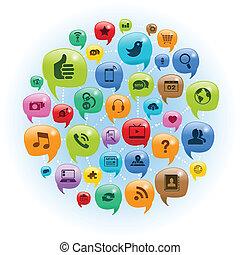 ネットワーク, 会話, 社会