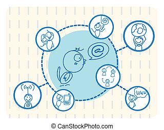 ネットワーク, 鳥, 社会