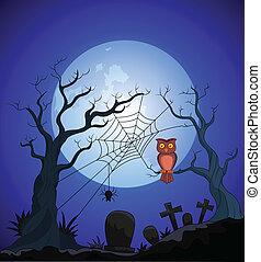 ハロウィーン, 漫画, 背景