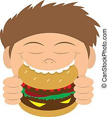 ハンバーガー, 食べること, 子供