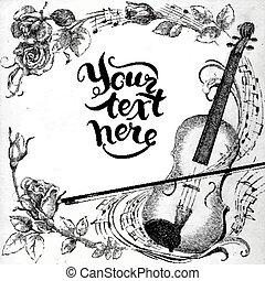 バイオリン, ばら
