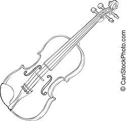 バイオリン, 図画