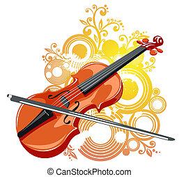 バイオリン, 抽象的, パターン