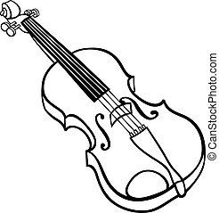 バイオリン, 着色, 漫画, イラスト, ページ