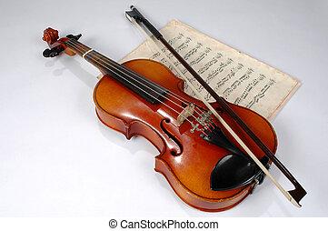 バイオリン, 音楽, 型, シート