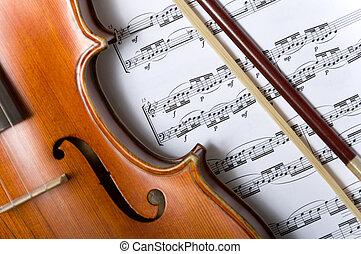 バイオリン, 音楽, 弓