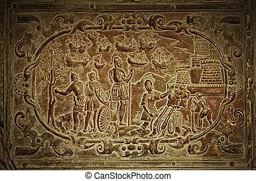 バシリカ, 古い, goa, goa., st. 。, 手掛かり, インド, イエス・キリスト, bom, xavier, 内部, (b.1605), 墓, francis