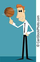 バスケットボール, 労働者, 漫画, オフィス