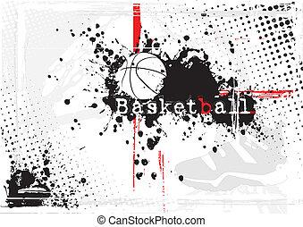 バスケットボール, 汚い, 背景