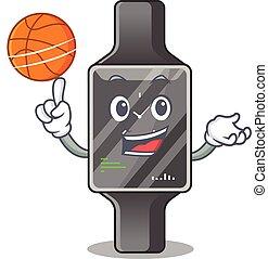バスケットボール, 漫画, 運動, デザイン, マスコット, 腕時計, 痛みなさい