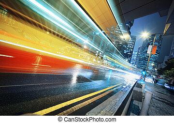バス, 引っ越し, 速い, 夜