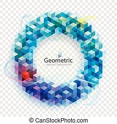 バックグラウンド。, 幾何学的, 色, 抽象的, 円