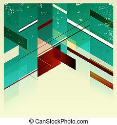 バックグラウンド。, 抽象的, レトロ, 幾何学的