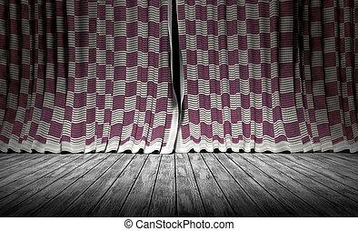 バックグラウンド。, 抽象的, curtains., 生地, 手ざわり