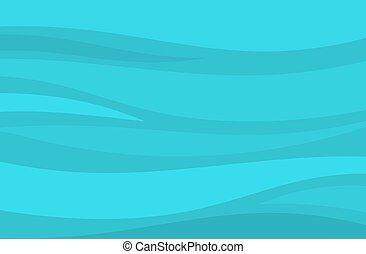 バックグラウンド。, 水, 海, 波, 青