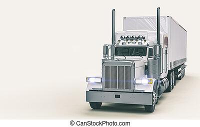 バックグラウンド。, 白, アメリカ人, トラック