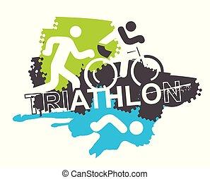 バックグラウンド。, triathlon, レース, アイコン