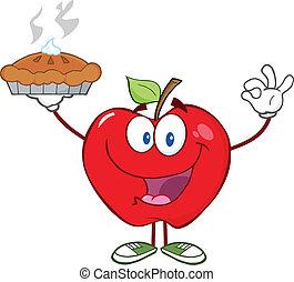 パイ, 赤いリンゴ, 持ちこたえる