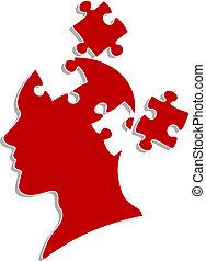 パズル, 頭, 人々