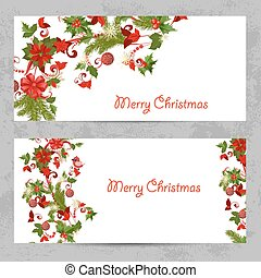 パターン, クリスマス, デザイン, 招待, カード, あなたの