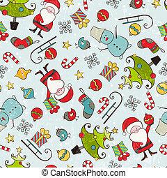パターン, クリスマス, seamless