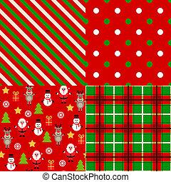 パターン, セット, クリスマス