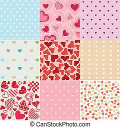 パターン, バレンタイン, seamless, 日