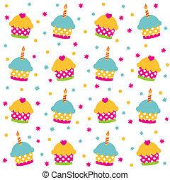 パターン, ベクトル, seamless, birthday