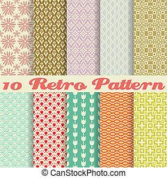 パターン, レトロ, 別, seamless, (tiling)., ベクトル